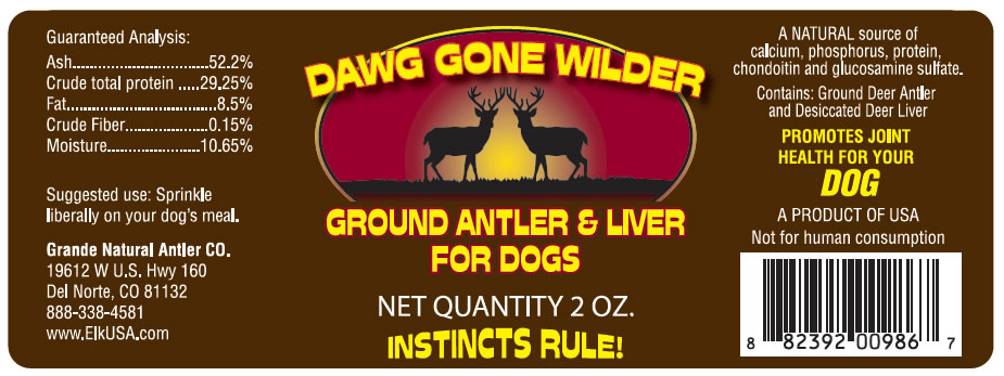 Dog Gone Wilder Antler Supplement