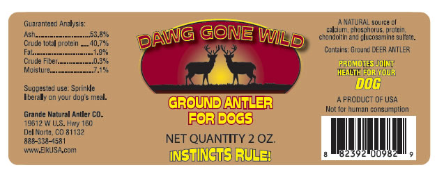 Dog Gone Wild Antler Supplement