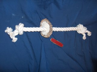 Antler rope toy