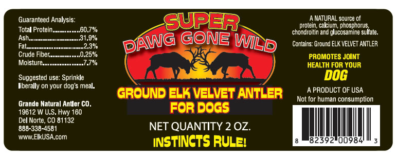 Super Dog Gone Wild Antler Supplement